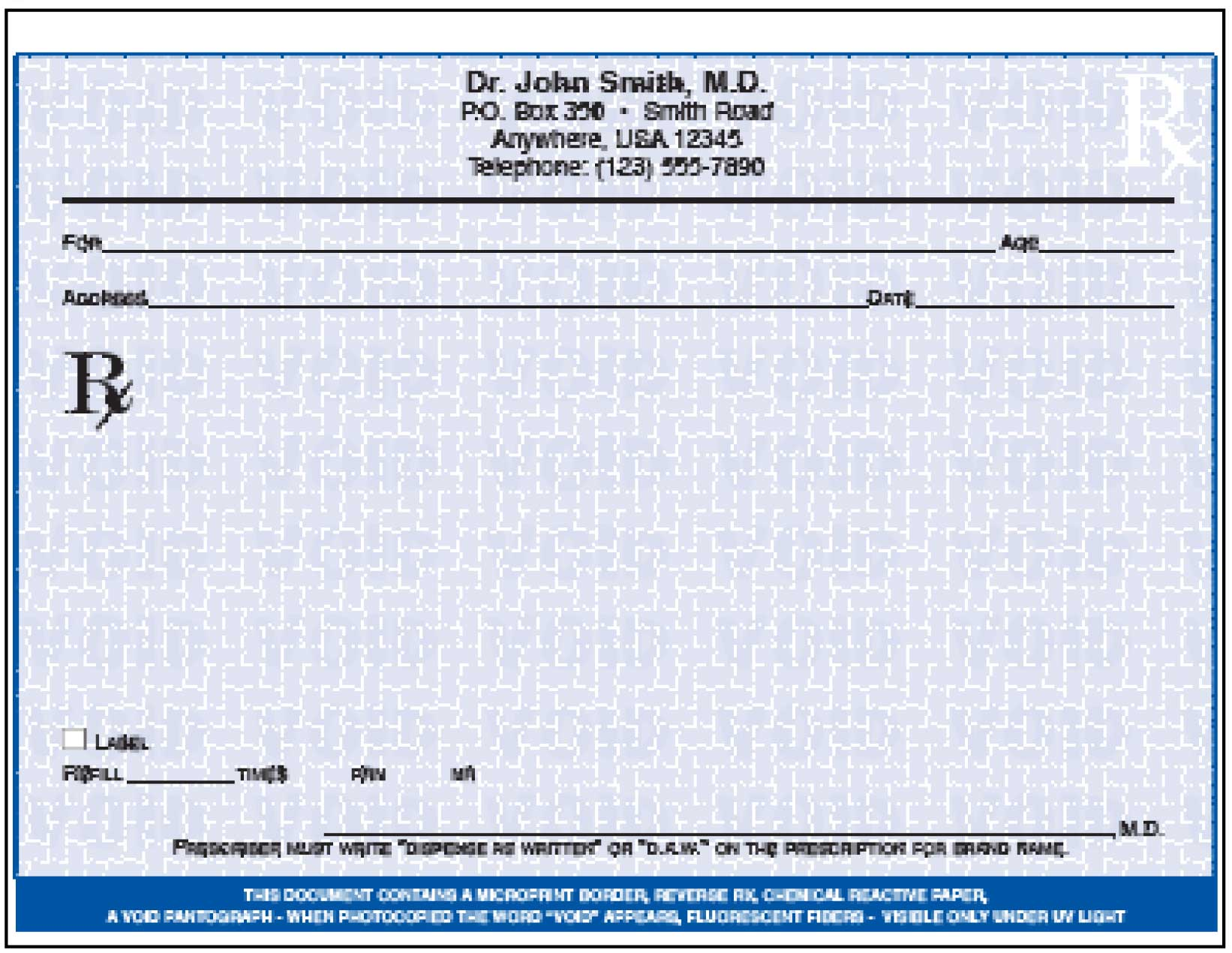Prescription forms print your own for Prescription pad template download